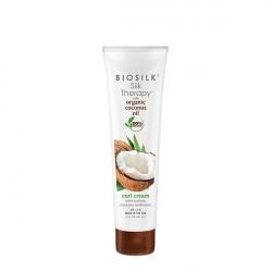 Крем для укладки увлажняющий Biosilk Silk Therapy Organic Coconut Oil Curl Cream 147 мл BSTOCCR5