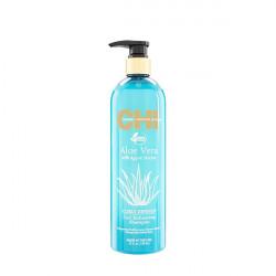 Шампунь увлажняющий разглаживающий Chi Aloe Vera with Agava Nectar Curl Enhancing Shampoo 739 мл CHIAVES25
